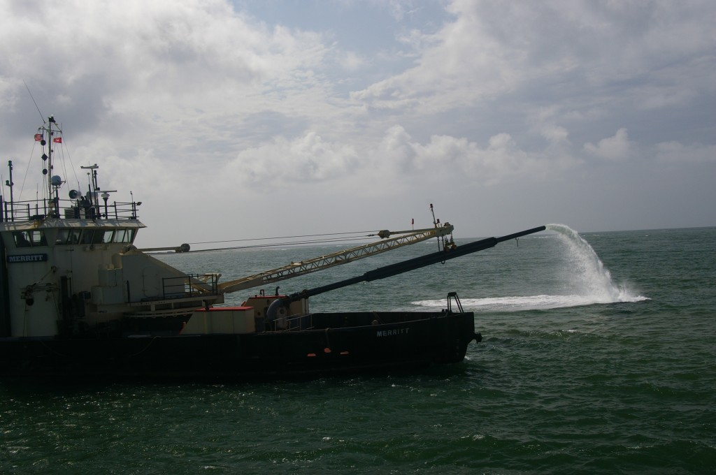 U.S. Army Corps of Engineers, Dredging Ship Merritt. Clearing the Ocracoke Inlet Ferry Channel.