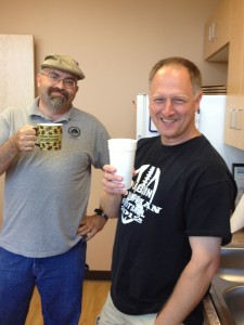 Coffee Snob's, John P. (right) and @BitoJavaRuss